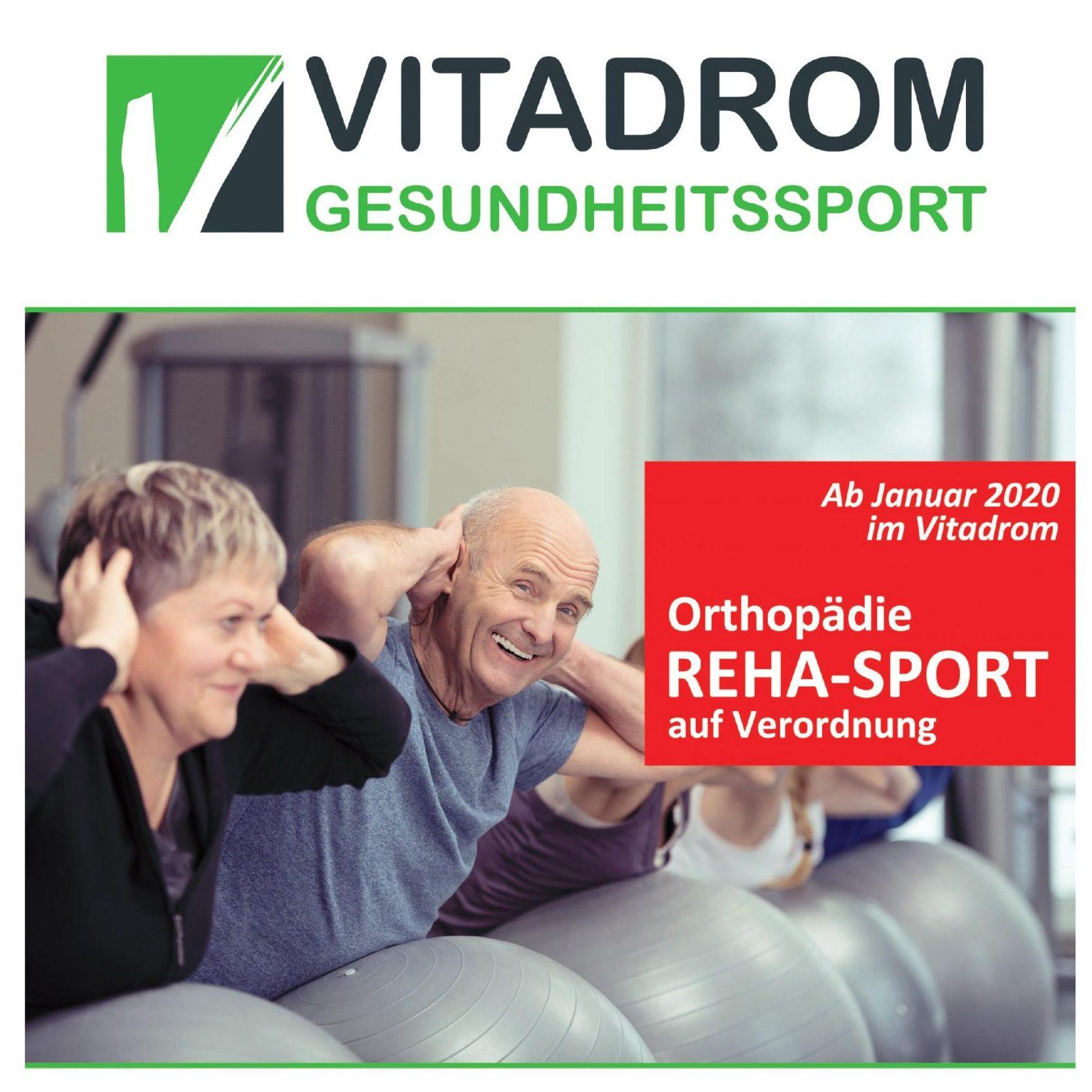 Reha-Sport jetzt im Vitadrom