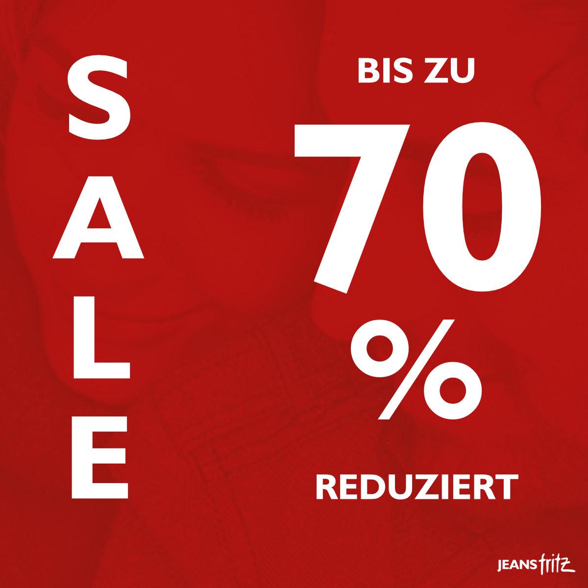 bis zu 70% SALE bei Jeans Fritz