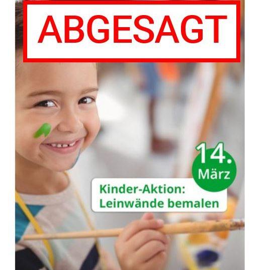 ABGESAGT: Malatelier für Kinder am Samstag, 14.03.2020