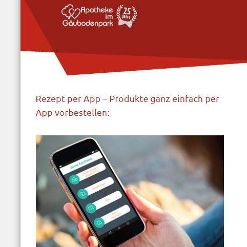 JETZT NEU in unserer Apotheke: Rezept per App