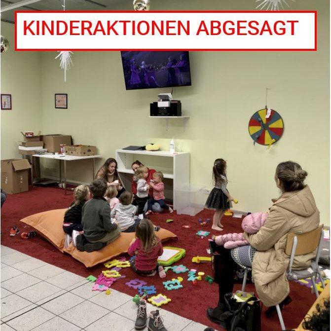 Absage der Kinderaktionen bis auf Weiteres