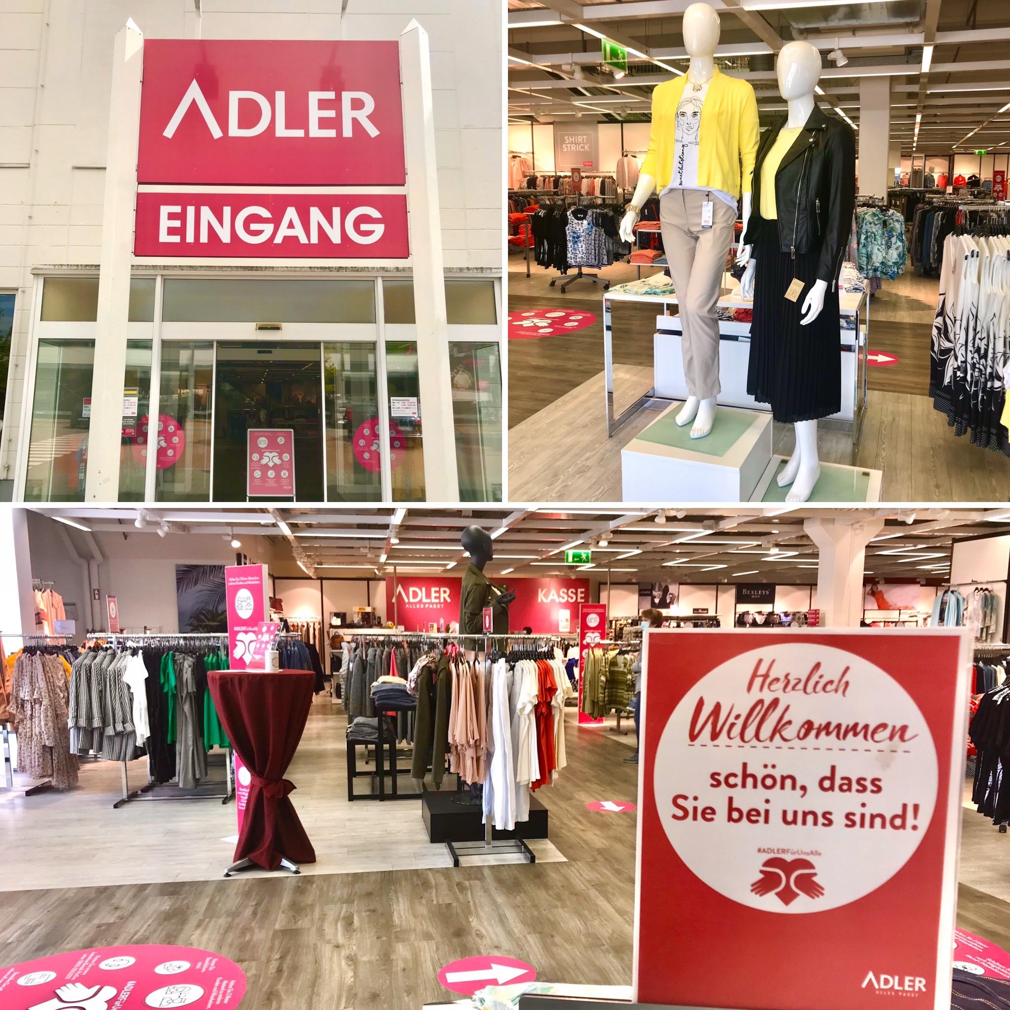 Auch Modehaus Adler ist wieder geöffnet