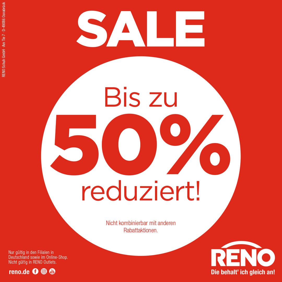 SALE bei RENO, spare bis zu 50%