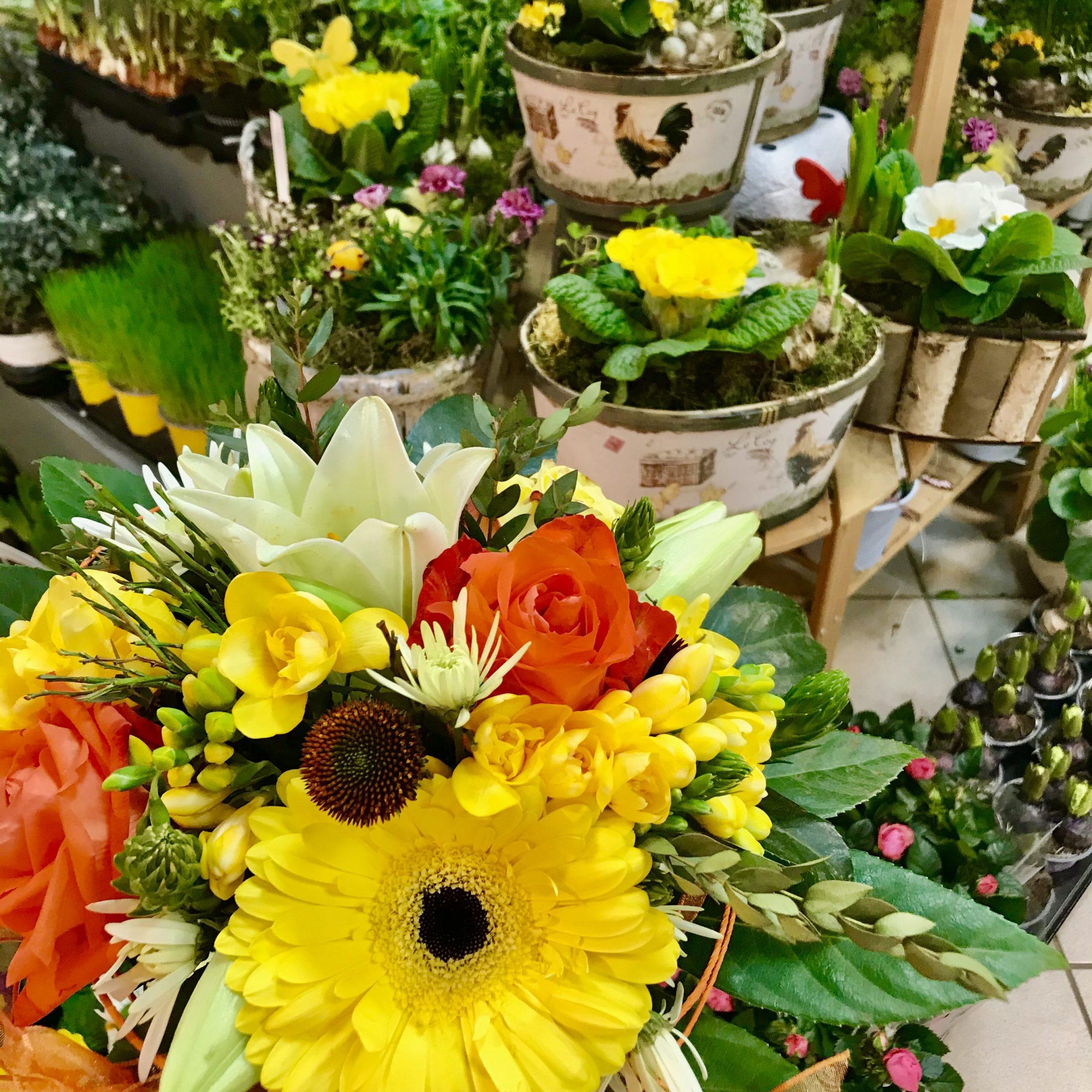 Die schönsten Ostergestecke gibt's bei Blumen Holland