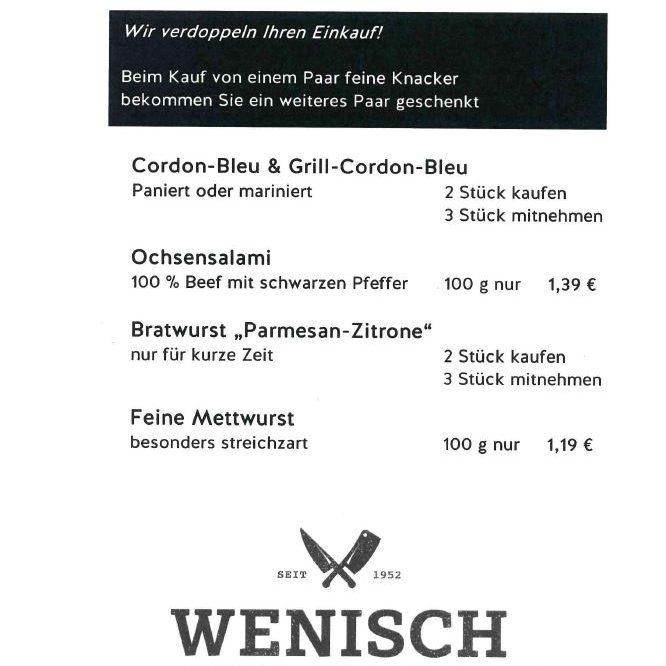 Diese Woche in der Metzgerei Wenisch (31.05.-05.06.2021)